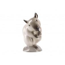 Скульптура Мышь умывающаяся Сиамская