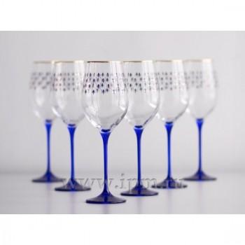 Набор из 6-ти Бокалов для вина рисунок «Кобальтовая сетка» 390мл: идеальный подарок