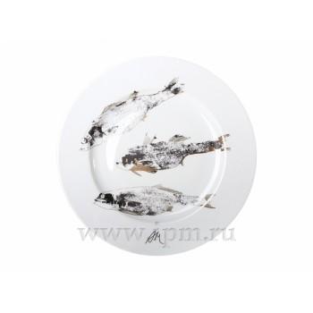Декоративная тарелка 265мм рисунок Вечер. Рыбы