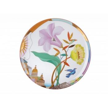 Декоративная тарелка 275 мм рисунок Лиловый вечер