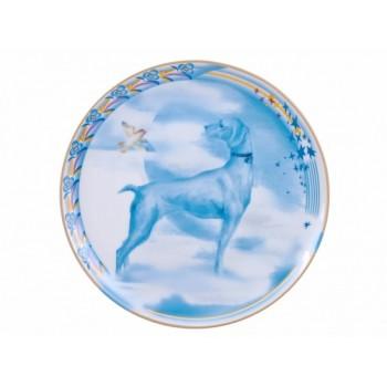 Декоративная тарелка 195 мм форма Эллипс  Небеса