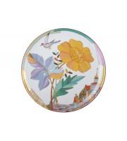 Тарелка декоративная 275 мм Эллипс рисунок Знойное лето