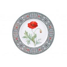 Тарелка декоративная форма Европейская 2 рисунок Мак восточный 270 мм