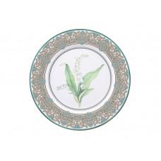 Тарелка декоративная форма Европейская 2 рисунок Ландыш майский 270 мм