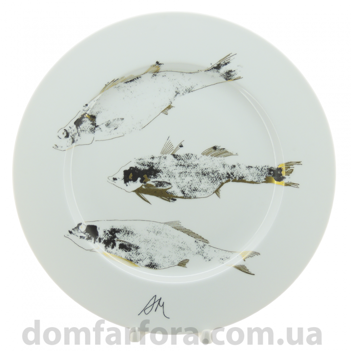 Декоративная тарелка рисунок Вечер. Рыбы 265 мм