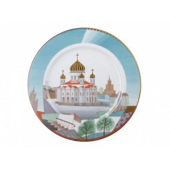 Тарелка декоративная 265 мм рисунок Воссозданный храм -2