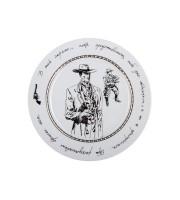 Декоративная тарелка форма Европейская-2 рис. Фандорин Америка 27см: лучший подарок
