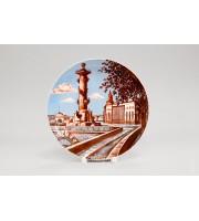 Тарелка декоративная 195 Эллипс рисунок Ростральная колонна
