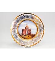 Тарелка декоративная 265 мм рисунок Вид Красных ворот в Москве.