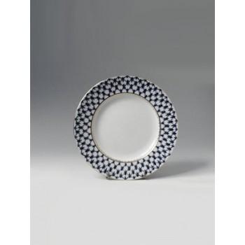 Тарелка мелкая 200 мм форма Гладкая рисунок Кобальтовая сетка