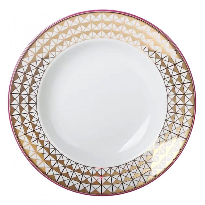 Тарелка глубокая 225 мм форма Европейская рисунок Замоскворечье
