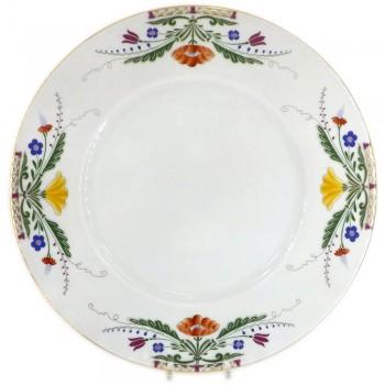 Тарелка мелкая форма Европейская рисунок Замоскворечье (21,5 см)