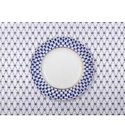 Скатерть на стол 145*145 Кобальтовая сетка Синяя