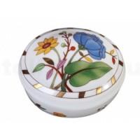 Туалетная коробочка форма «Овальная» рисунок «Пиония»