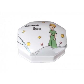 Туалетная коробочка форма Граненая рисунок Принц на планете. Серия Маленький принц.