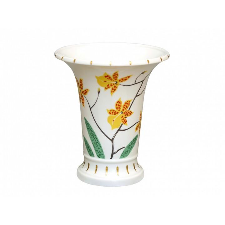 Ваза для цветов форма Ампирная рисунок Тигровая орхидея