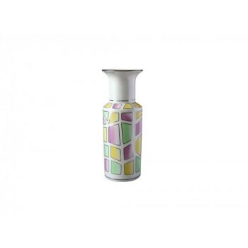 Ваза для цветов форма Цилиндрическая рисунок Витраж
