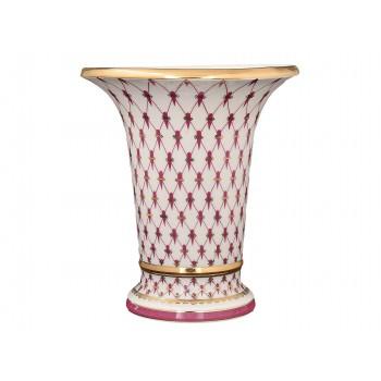 Ваза для цветов форма Ампирная рисунок Сетка-блюз