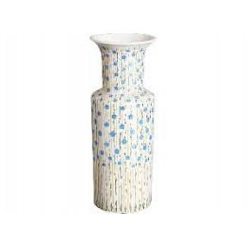 Ваза для цветов форма Цилиндрическая рисунок Лён