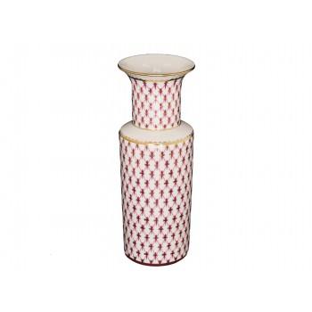 Ваза для цветов форма Цилиндрическая рисунок Сетка-блюз
